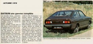 ARTICLE DATSUN FRANCE 456