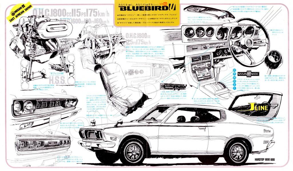 BLUEBIRD U JAPAN 1600GL 1800 SSS (3)
