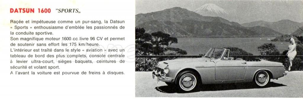 1967 belgique FAIRLADY 1600
