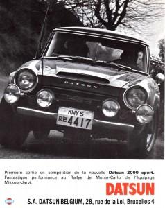 fairlady 2000 sport belgique