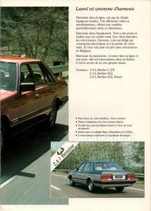 LAUREL 1983 BELGIQUE 133