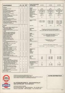 LAUREL 1983 BELGIQUE 140