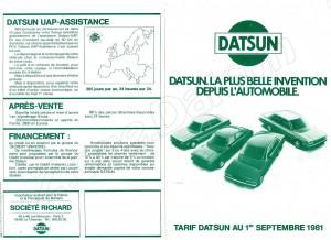 TARIF DATSUN 1981784