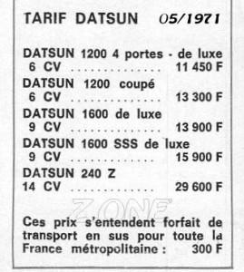tarif 1971 494