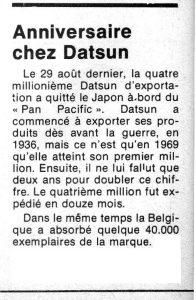info datsun 1974