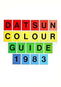 CODES PEINTURE DATUN UK 1983 01