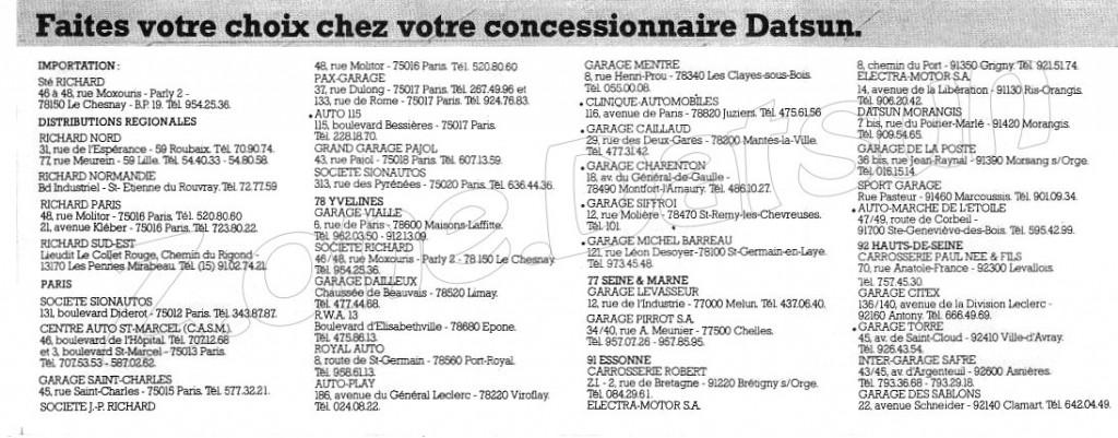 CONCESSIONNAIRES DATSUN595