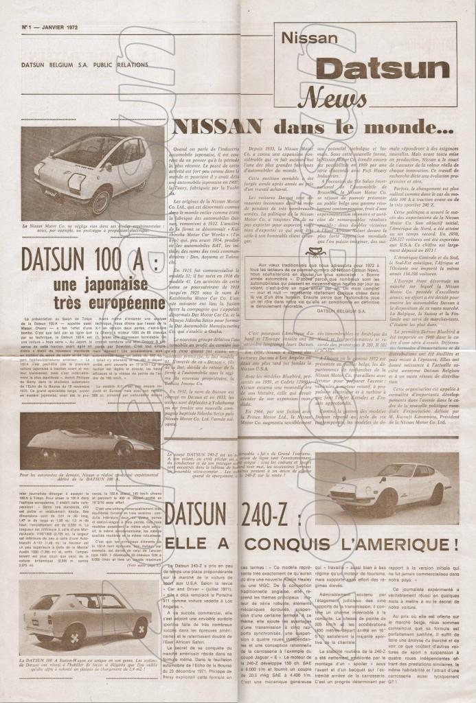 news belgique 1972