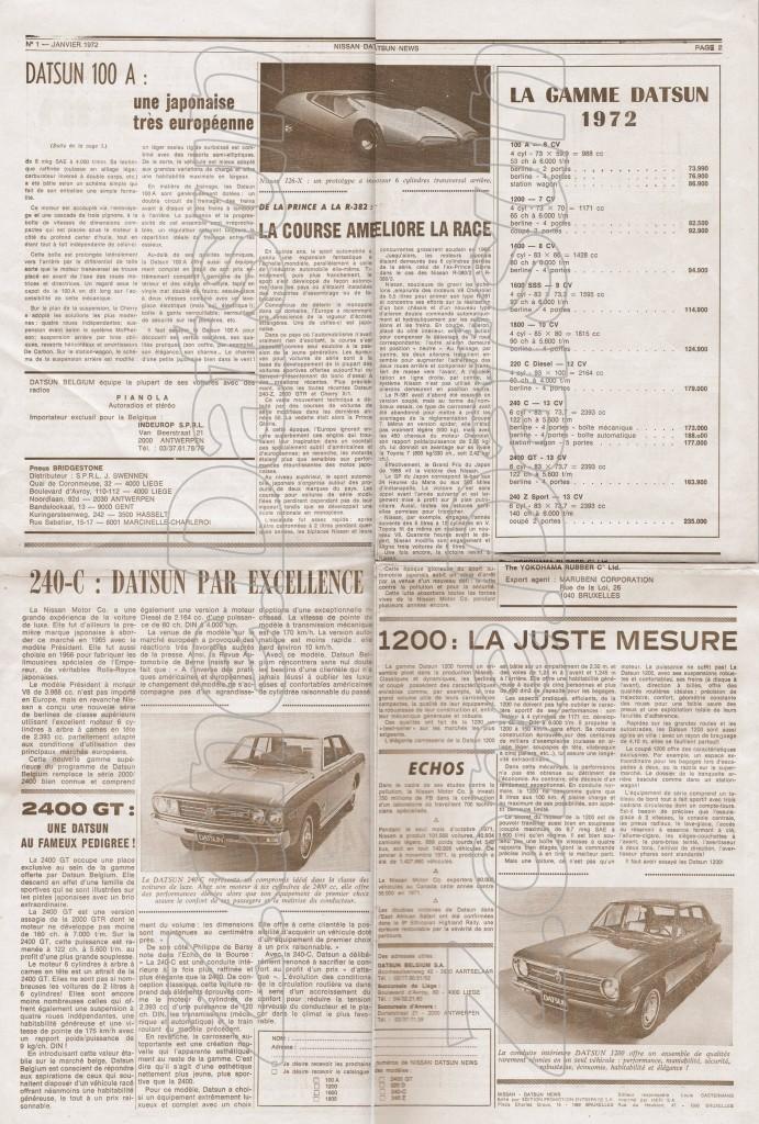 news belgique 19721
