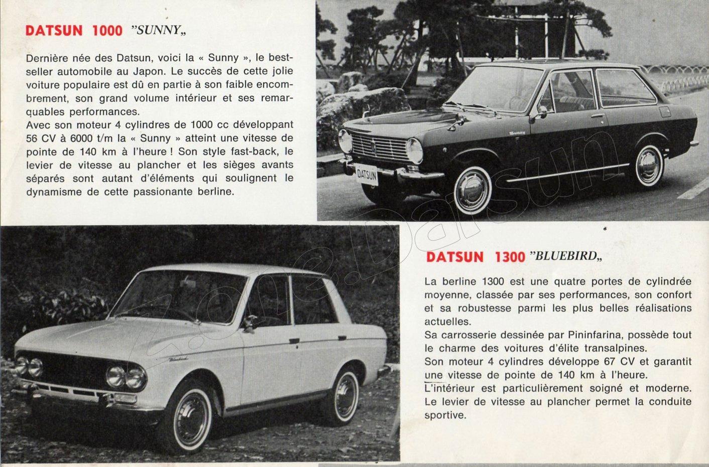 cat datsun 1967 belgique 935