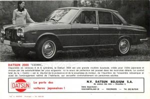 cat datsun 1967 belgique 937