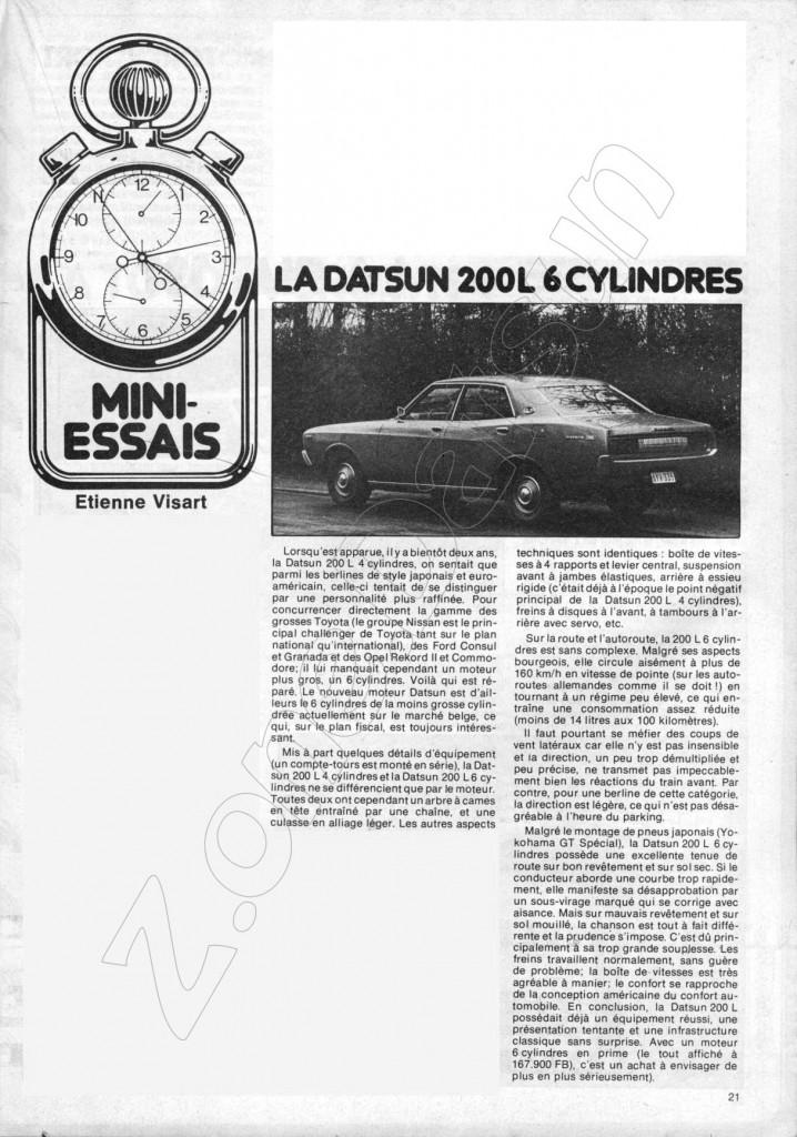 1975  DATSUN 200L SM 419
