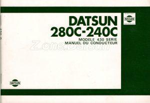 datsun 280c 240c utilisation 1980707