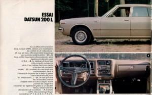 essai datsun 200L 1977355