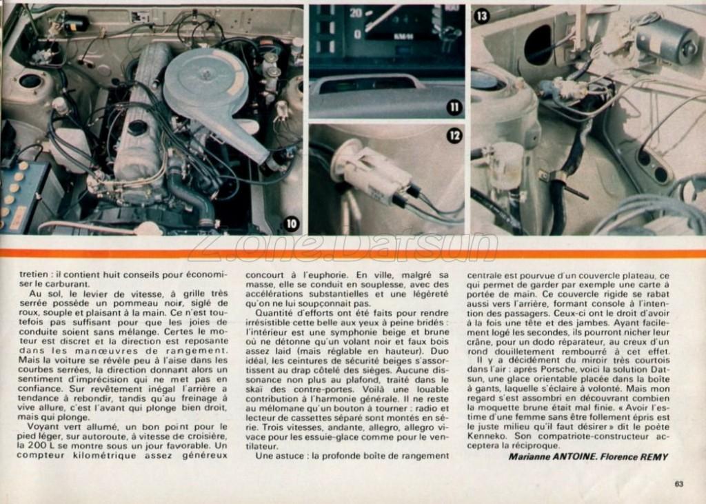 essai datsun 200L 1977358