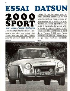essai fairlady 2000 sports661