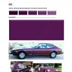 362 violet COULEUR DATSUN ANNEES 1970.02