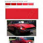 905 COULEURS rouge 905 PEINTURE DATSUN CHRONO