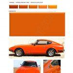 COULEUR orange918 PEINTURE DATSUN CHRONO
