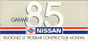 GAMME NISSAN 1985937