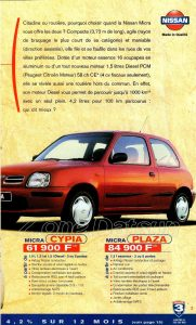 GAMME NISSAN 1998923