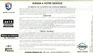 GAMME NISSAN FRANCE 1999886