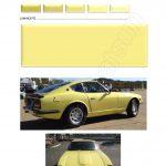 coULEURS jaune 919 PEINTURE DATSUN CHRONO