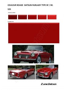 Copie de COULEUR ROUGE CERISE 525 fairlady