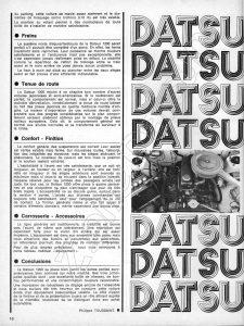 ESSAI DATSUN 1200 1972105