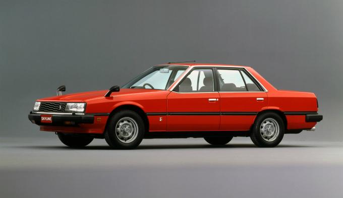 Image: La R30 Skyline lancée en 1981 avait également un moteur 6 cylindres de type L.